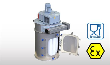 WAMFLO Food - Flanged Round Dust Collectors